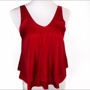 [Hollister] Cropped Dark Red Tank Top - Size XS